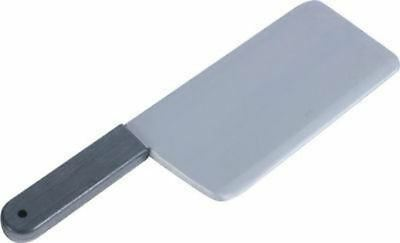 Artificial Fake Meat Cleaver Knife Halloween Prop Scary Plastic Butcher