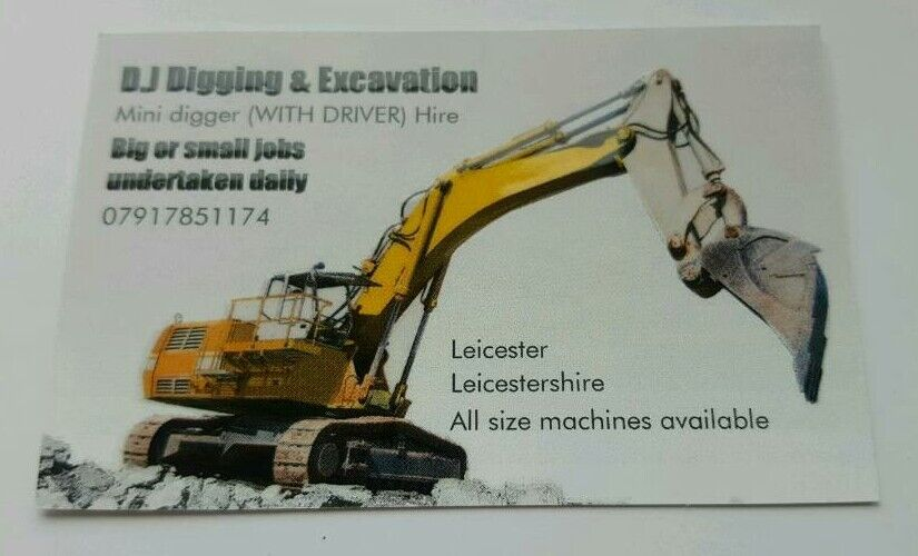 Mini digger and driver hire | in Leicester, Leicestershire