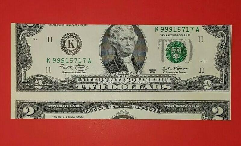 2003 $2 Misscut