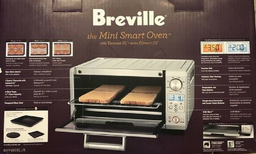Breville BOV450XL Mini Smart Oven with Element IQ, Brand New