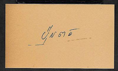 Pol Pot Khmer Rouge Cambodia Autograph Reprint On Genuine 1970s 3x5 Card
