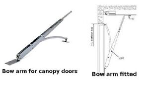 Canopy door bow arm converter