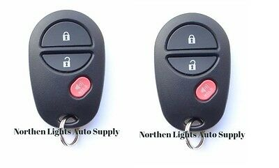 for Toyota Highlander Sequoia Tacoma Tundra Keyless Remote Car Key Fob Pair