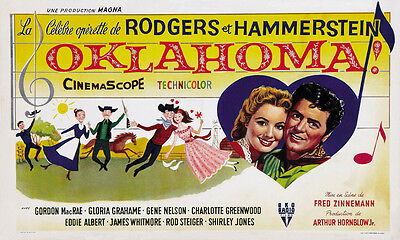 Oklahoma (1955) Gordon Mcrae Cult Western Movie Poster 22x36 Inches