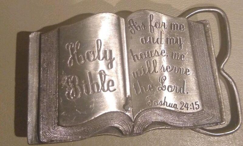 Siskiyou Holy Bible Pewter Belt Buckle 1984