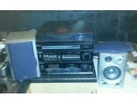 1990s Panasonic SG-D15L record player & tuner & twin tape deck read description