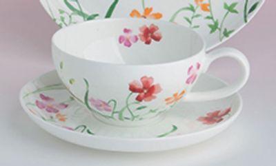 Lotta Teetasse mit Untertasse 0,18 L Fine Bone China Porzellan - China Untertasse