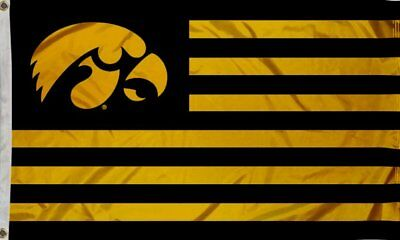 Iowa Hawkeyes 3' X 5' Banner Flag House Flag Sports Room Double Stitched Strips  ()