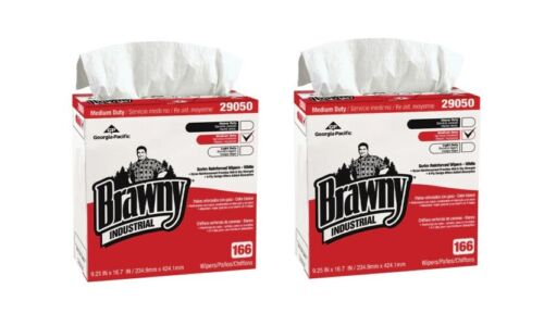 "2/PK Brawny Professional 29050, 9-1/4""x16-1/2"", Number of Sheets Per Box 166"