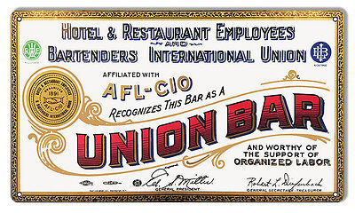 Union Hotel And Restaurant Reproduction Bar Sign 12