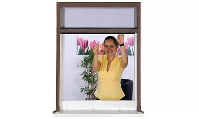 Insektenschutz Rollo Fliegengitter Insektenschutzrollo Fenster 130 x 160 B-WARE