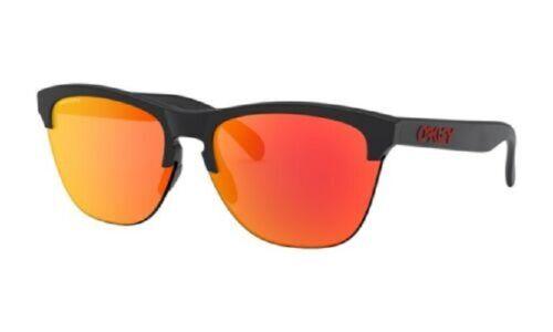 New Oakley Eyewear Frogskin Lite OO99374-0463 Sunglasses Black/Prizm Ruby