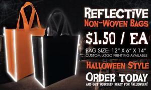 Reflective Non-woven Bag/Reusable Bag/Logo Printed non-woven Bag/Grocery Bag/Custom Bag/Halloween Custom Bag