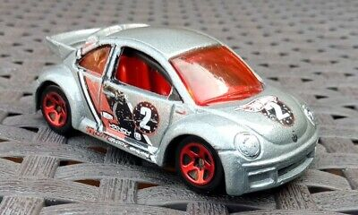 Hot Wheels Volkswagen New Beetle Cup Pop Offs No2 silver