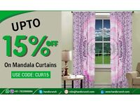 Elite range of mandala curtains from Handicrunch