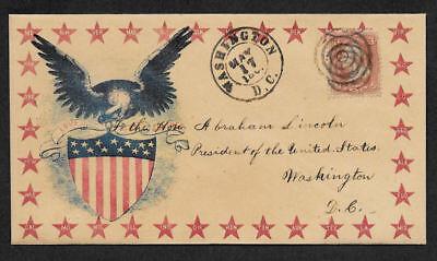Civil War collector envelope reprint w original period stamp 155 years old *A12