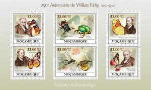 William Kirby Entomologist Butterflies Mozambique 2009 s/s MNH Sc.1891 #MOZ9217a - <span itemprop='availableAtOrFrom'>Olsztyn, Polska</span> - William Kirby Entomologist Butterflies Mozambique 2009 s/s MNH Sc.1891 #MOZ9217a - Olsztyn, Polska