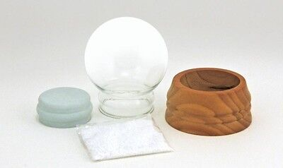 Make Your Own Snow (DIY Make Your Own Small Snow Globe Kit with Glass Globe and solid Wood)