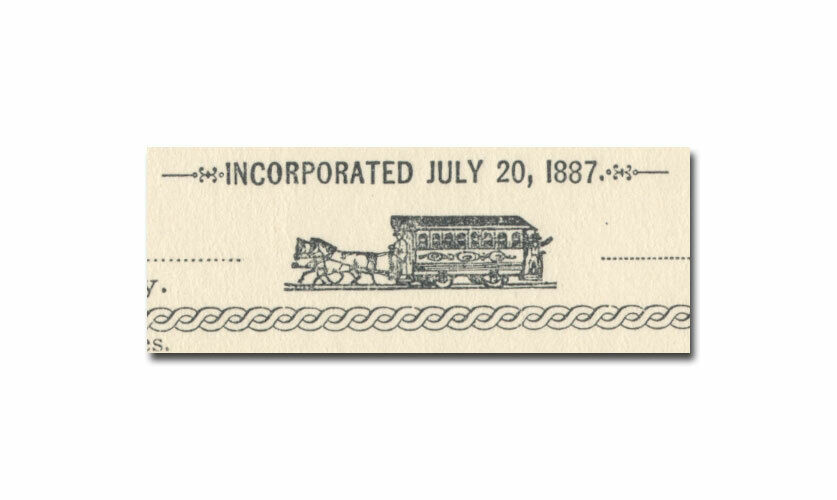 Los Angeles and Vernon Street Railway Company Stock Certificate