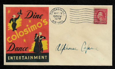1920 Al Capone Collectors Envelope W Original Period Stamp 96 Years Old   Op946