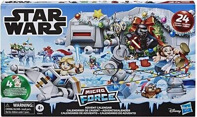 STAR WARS MICRO FORCE ADVENT CALENDAR 24 Collectible Mini Figures & 7 Stickers