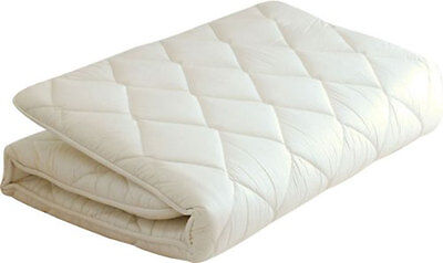 Japanese Traditional Futon Mattress (39x83x2.5in) Twin Size White Made in JAPAN