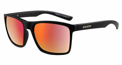 DIRTY DOG DROID 53550 POLARISED SUNGLASSES SATIN BLACK / RED FUSION MIRROR