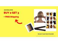 Magic Hair Bun Maker With FREE Shipping