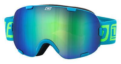 DIRTY DOG 54153 AFTERBURNER SNOW BOARD SKI GOGGLES BLUE/BLUE GREEN FUSION
