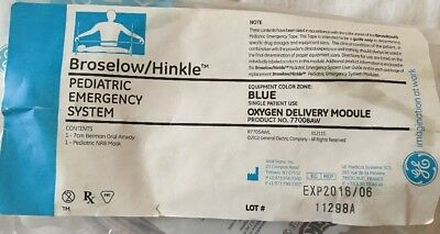 Broselow/Hinkle Pediatric Emergency System Oxygen Delivery Module Blue 7700BAW. Oxygen Delivery Systems