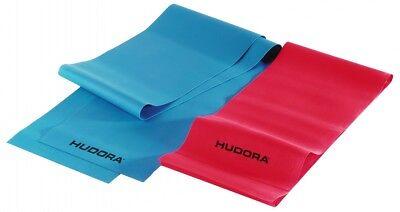 Hudora Fitnessband, 2 Stück (64148) Gymnastikband Fitnessbänder Latexband, NEU