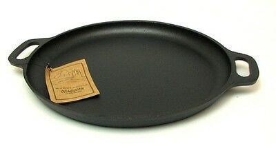 OLD MOUNTAIN PRE SEASONED CAST IRON PIZZA PAN 13.75