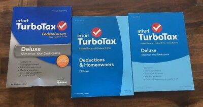 Intuit Turbotax Deluxe 2013  2014  2015 Federal Returns   E File  New Sealed
