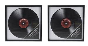 2x Record Album Frame Retro Vinyl LP Cover Square Picture Wall Display 12