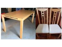 Ikea Solid Wood Table & 6 Chairs FREE DELIVERY 316