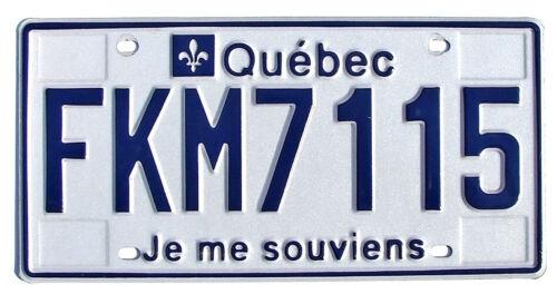 Quebec Canada License Plate JE ME SOUVIENS (RANDOM PLATE #)