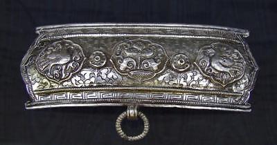 Antique Tibetan Silver Apron Clasp Buckle 19th Century Tibet