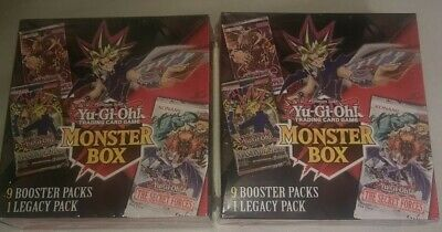 """(2) YUGIOH MONSTER BOX'S NEW 2020 w/18 BOOSTER PACK'S & 2 LEGACY PACK'S """"SEALED"""""""