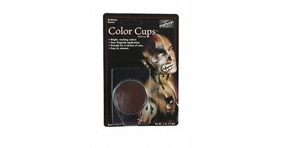 Wolfman Make Up (MEHRON WOLFMAN BROWN COLOR CUP OIL BASED GREASE PAINT MAKEUP )