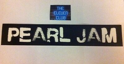 """Pearl Jam Sticker vinyl 10"""" Long Logo Rare Club Spray Paint  LP Art New LE OOP for sale  Shipping to India"""