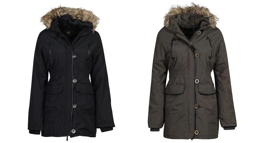 ecabb3533c6 New Girls Kids Brave Soul Parka Winter Coat Fur Jacket School Age 7 ...