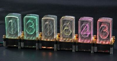 LED-Nixie -S 6-stelliger Bausatz inkl. Controller LED-Uhr Steuerung Nixie Design