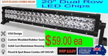 """LED LIGHT BAR NEW in box 20""""D Chips Dual Row $59 Sale"""