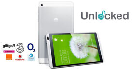 """Huawei MediaPad M1 8.0 S8-301L Android Tablet -16GB Silver - 8""""- WiFi + 4G"""