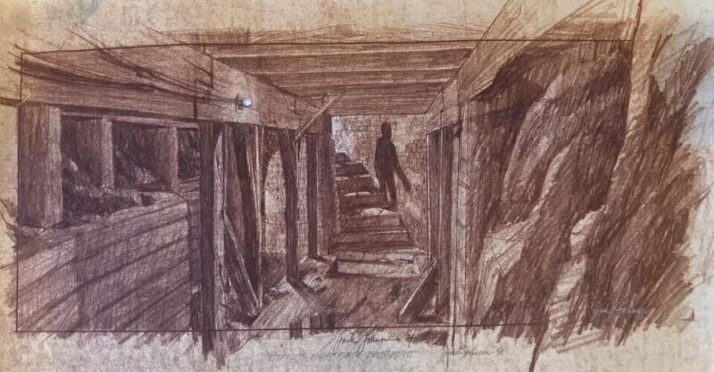 1984 Goonies Original Concept Art Jack Johnson Lighthouse Production Sloth Prop
