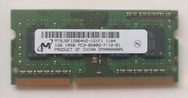 Micron 1GB SODIMM DDR3-1066
