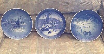 Lot of 3 Bing & Grondahl 1966 1972 B&G & 1967 Royal Copenhagen Christmas Plates