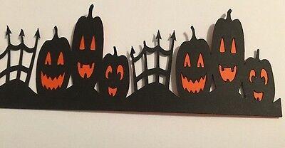 Halloween Pumpkin Fence Border Die Cut Handmade With CardStock, Paper Piecing (Halloween Border Paper)