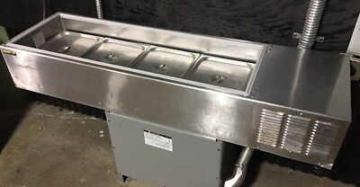 Silver King Skps12 Refrigerated Table Top Topping Rail Counter Prep Station