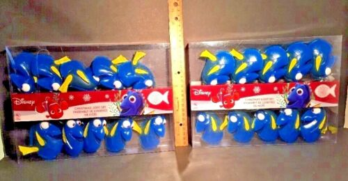 FINDING DORY Christmas Indoor Outdoor STRING LIGHT SET Xmas Party NEW Lot of 2